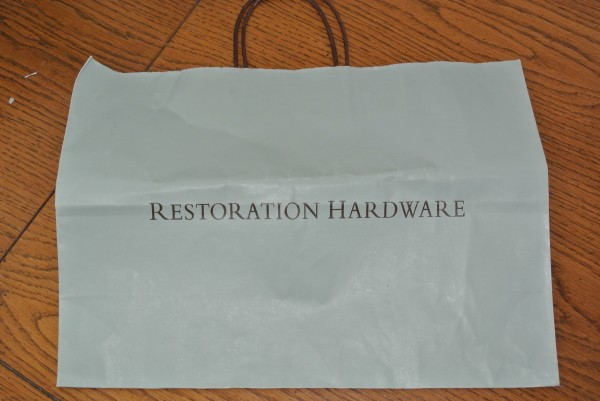 Restoration Hardware shopping bag