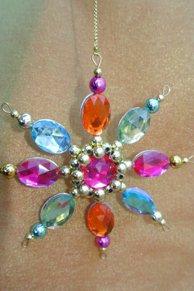 Modern jeweled Christmas Ornament