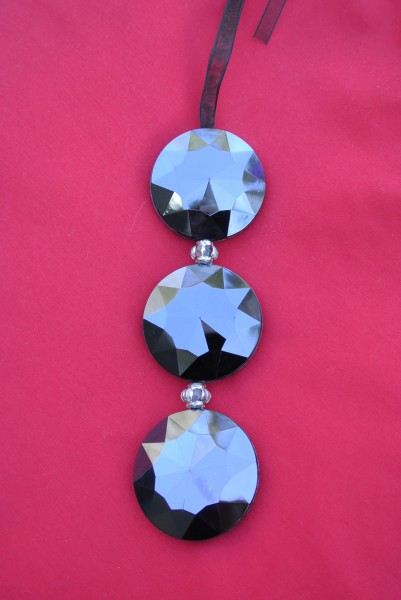 Modern black Jeweled ornament