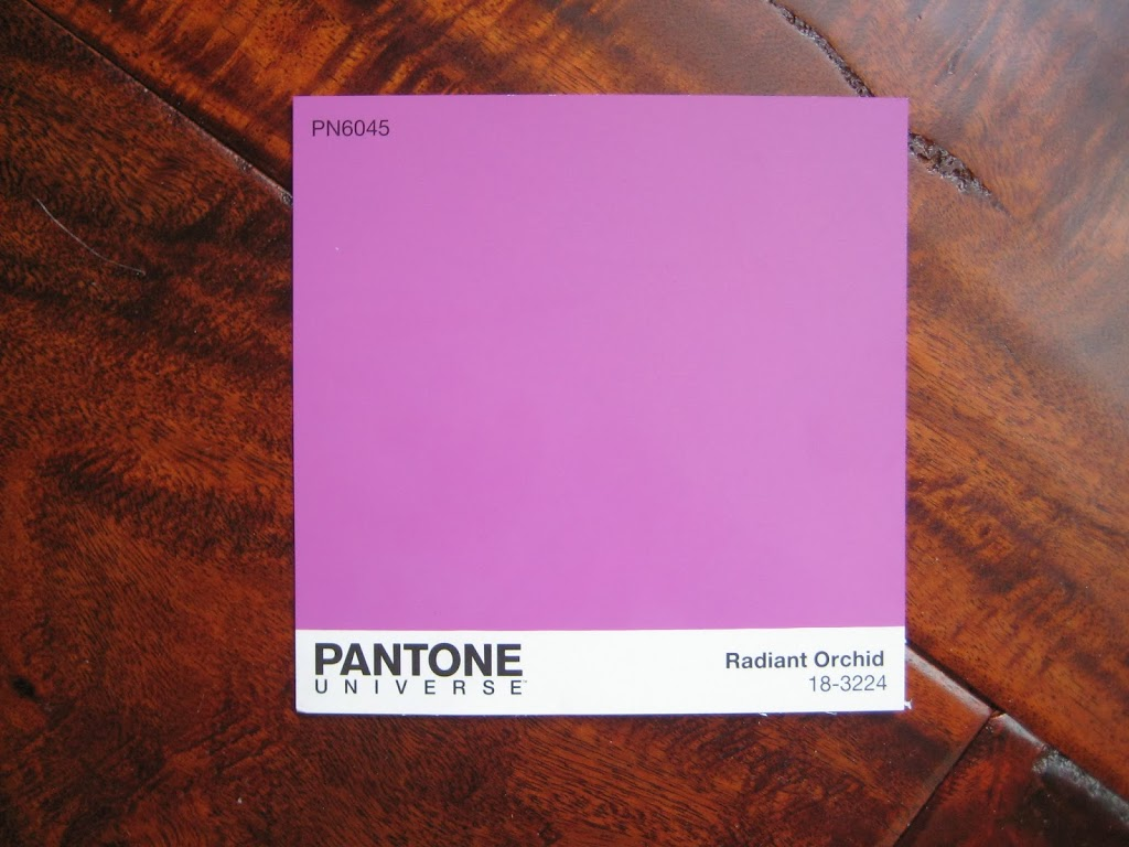 Radiant Orchid with hardwoods