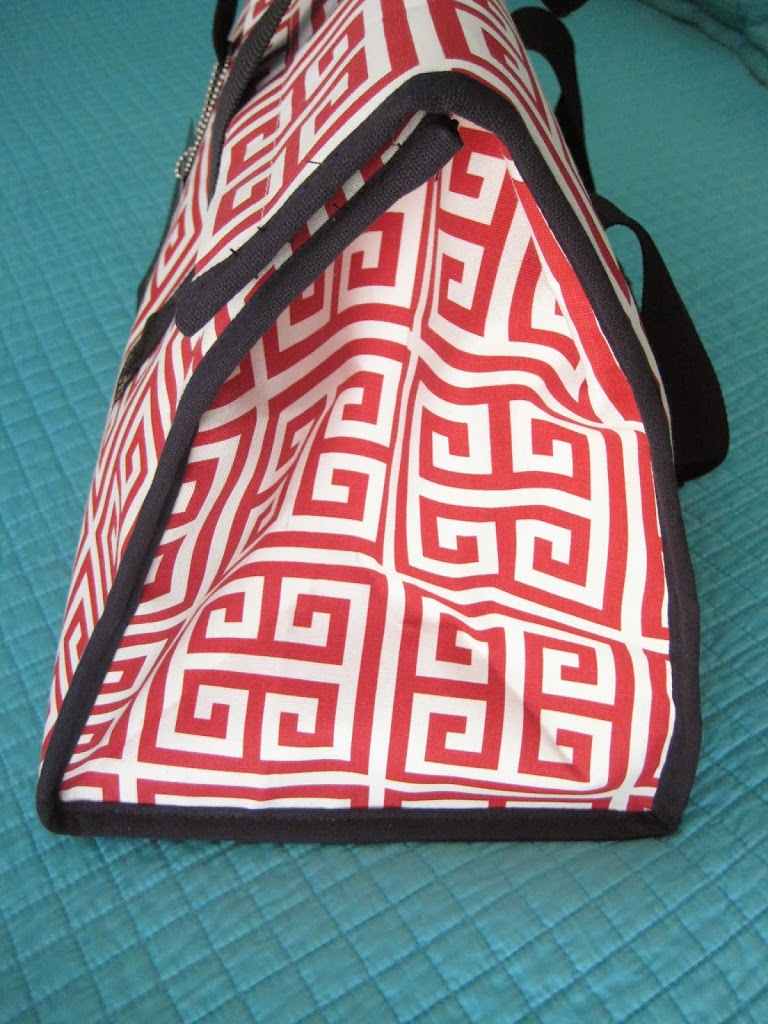 Haul Couture Red and Black Greek Key Pattern