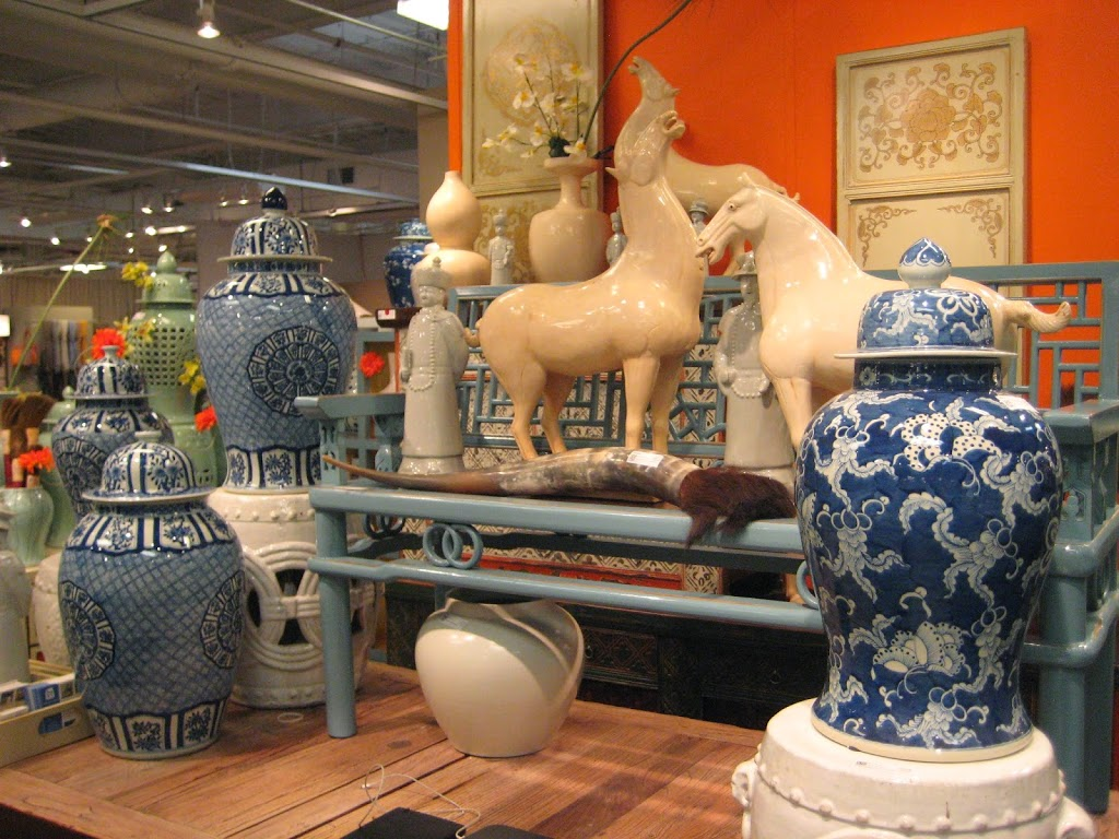 Traditional blue and whit ginger jars