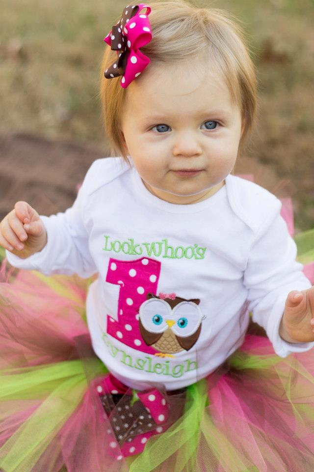 1st birthday owl shirt