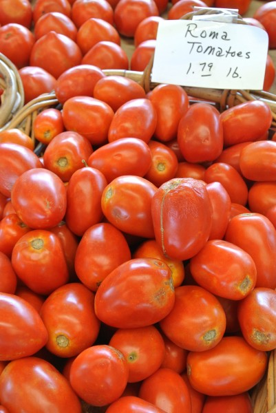 Roma tomatoes- Farmers Market with Living With Color Designs