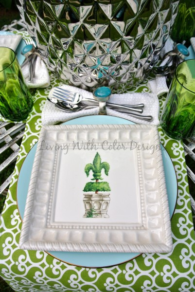 Garden Tablescape - Living With Color Designs & The Table Farmhouse and Bakery