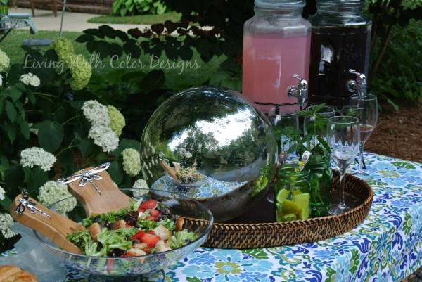 Garden lunch- Living With Color Designs & The Table Farmhouse and Bakery