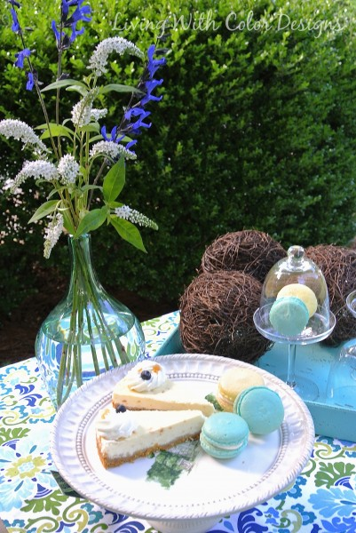 Desserts for a garden luncheon - Living With Color Design & The Table