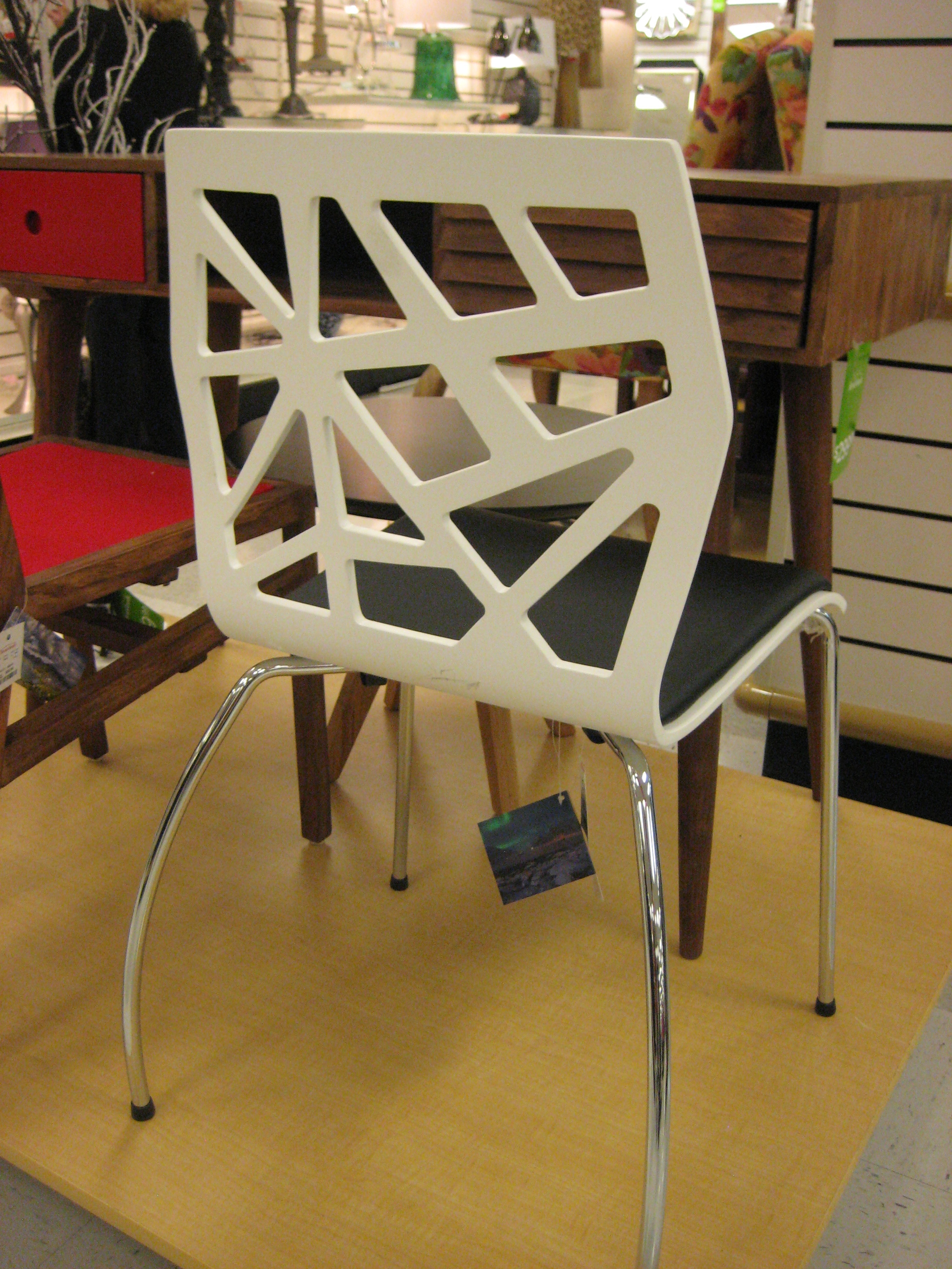 contemporary chair with laser cut back