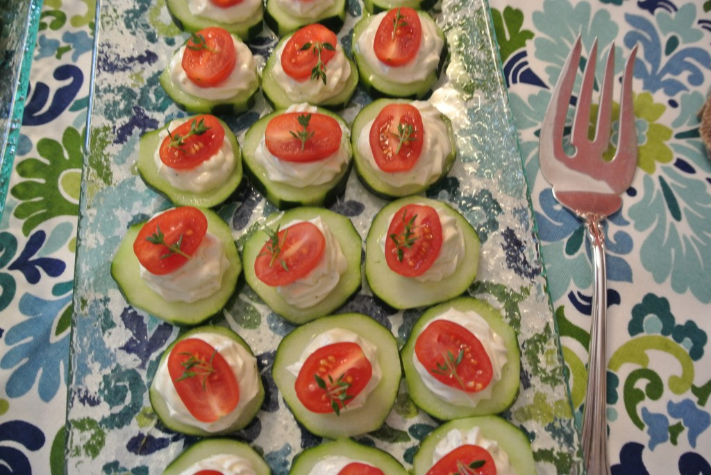 Cucumber bites- Living With Color Designs