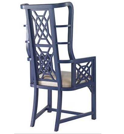 Taylor Burke Kings Grant Chair Cobalt- Living With Color Designs