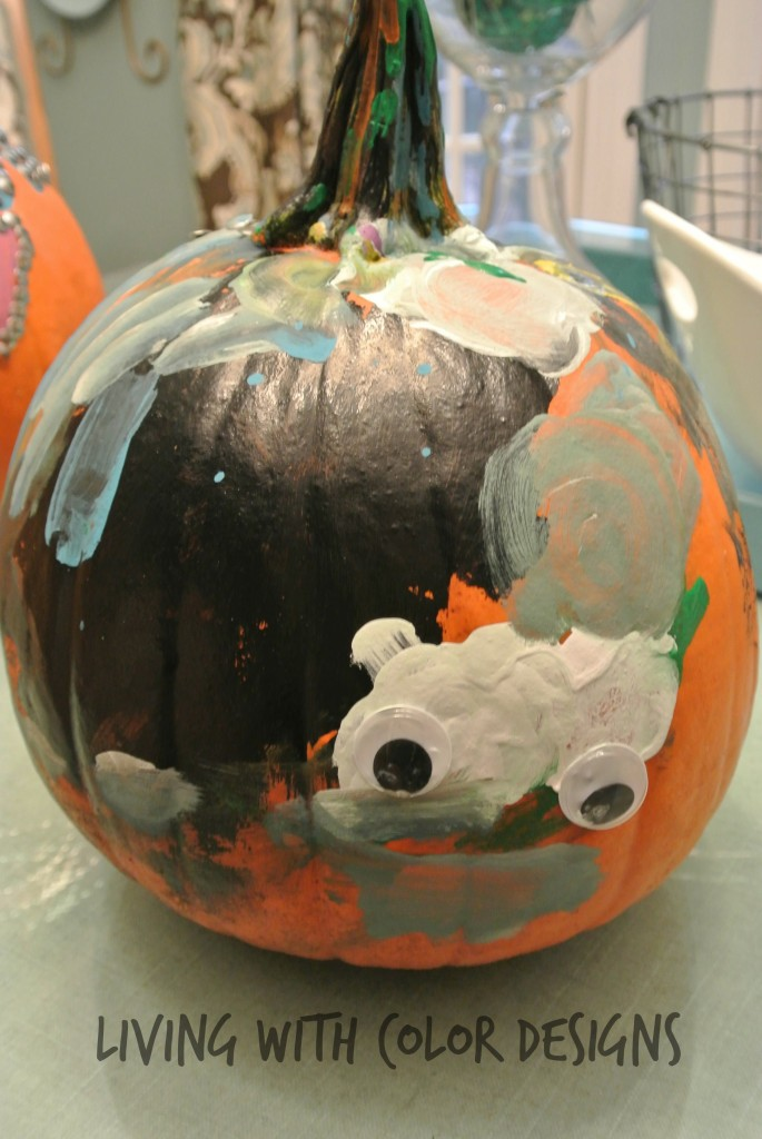Easy Pumpkin Decorating- Living With Color Designs