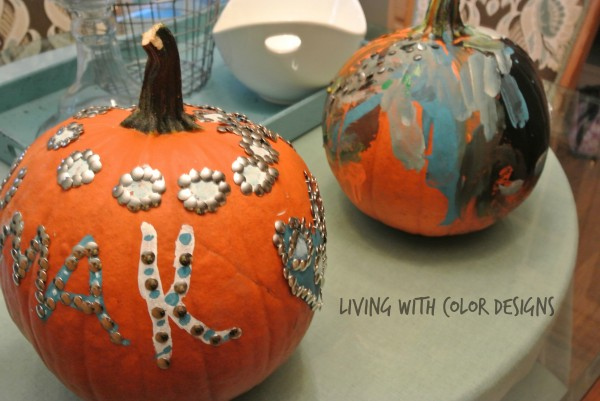 Easy Pumpkin Decorating Ideas -Living With Color Designs