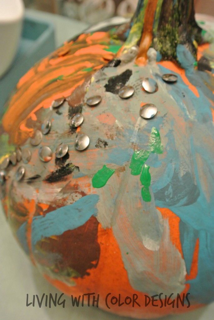modern Art painted pumpkin - Living With Color Designs