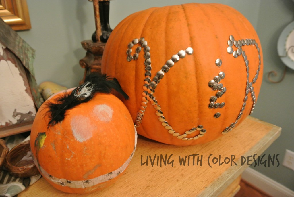 Monogrammed Pumpkins -Living With Color Designs