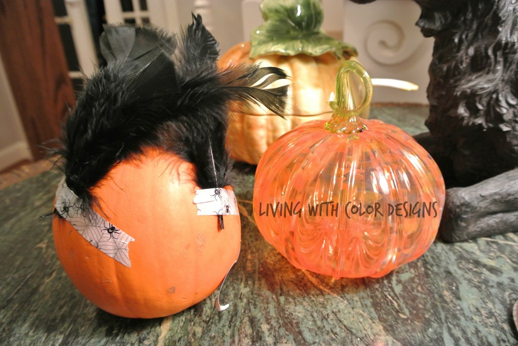 Decorating pumpkins with wasabi tape -Living With Color Designs