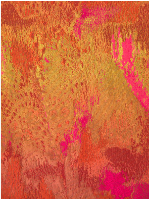 abstract orange silk fabric