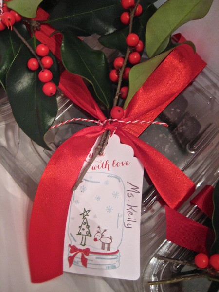 add greenery to your gift wrapping