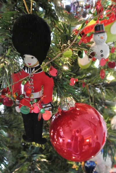 Cloth soldier ornament  for the tree - Living With Color Designs