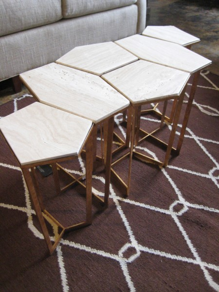 Geometric nested tables