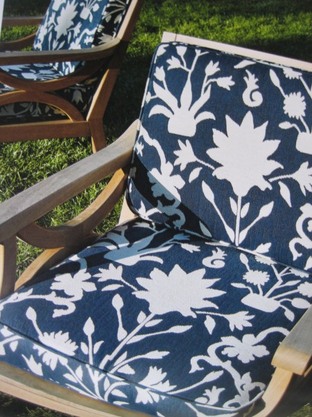 Decorative Fabrics For Outdoors Navy Print - Living With color Designs