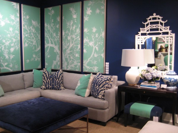 Navy and mint room combination - Tobi Fairley Collection - Living With Color Designs