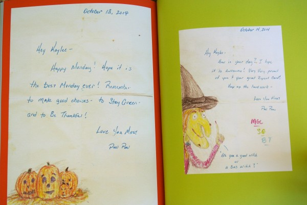 Lunchbox Notes in keepsake book -Living With Color Designs