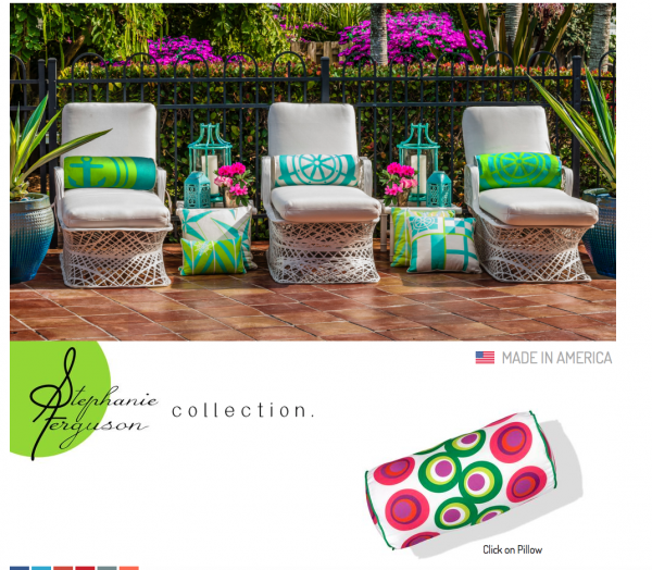 Chic Outdoor Pillows In Eye Poppin' Colors
