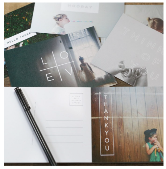 Personalized photo post cards by Artifact Uprising - Living With Color Designs