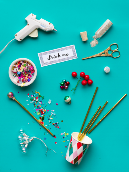 Festive Holiday Drink Stirrers- Oh Happy Day