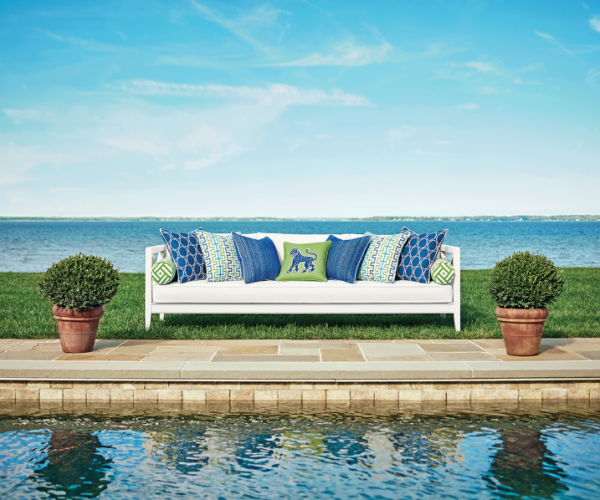 Thibaut's Calypso Collection of Sunbrella fabrics- Living With Color Designs Blog