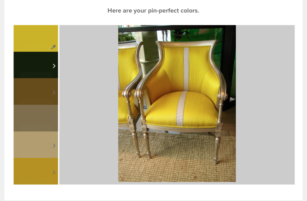 Valspar + Pinterest: Pin Color Analyzer-LWCD post pin Wesley Hall- Yellow color palette- Living with Color Designs Blog