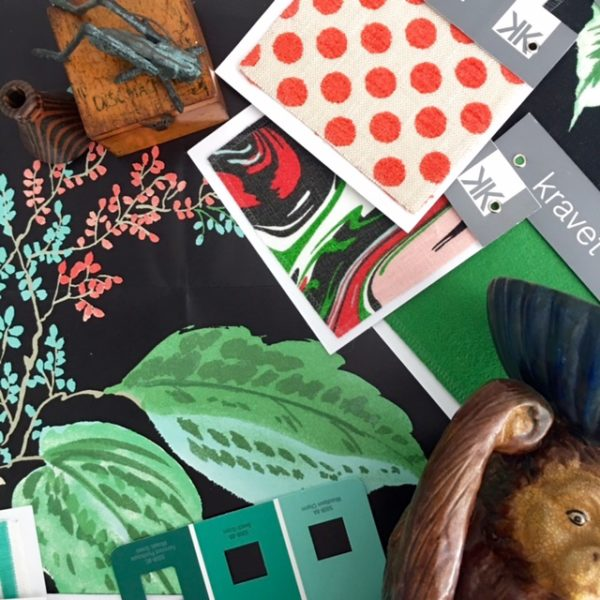 Design Inspiration-Picnic Green, Turquoise, Black, & Hot Coral color palette- Living With Color Designs