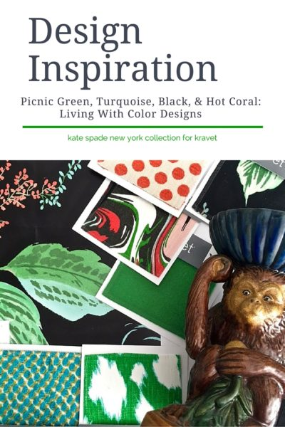 Design inspiration using the new Kate Spade New York fabric collection for Kravet: Living With Color Designs