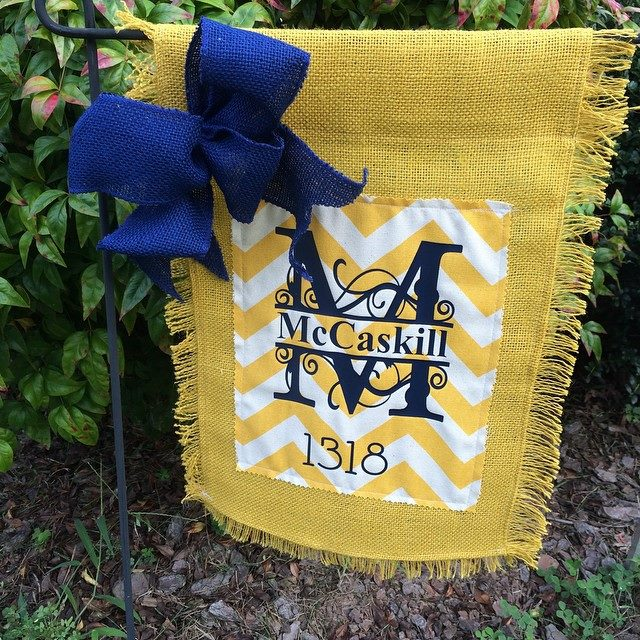 Southern Style monogram yard flags- Living With Color Designs