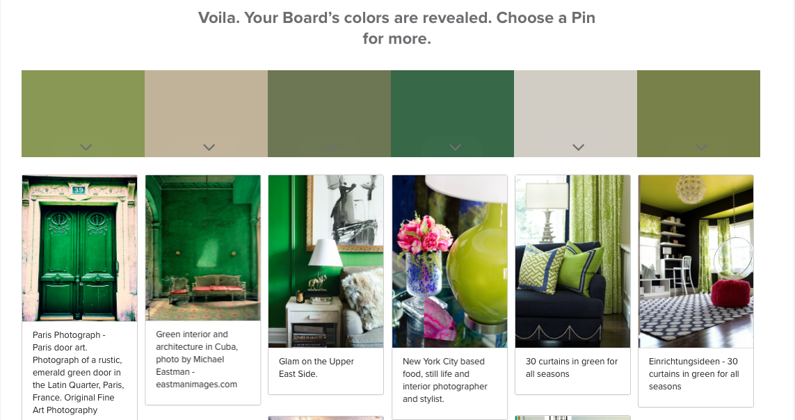 Valspar + Pinterest: Pin Color Analyzer- Living With Color Designs- Living With Color Green Pinterest board