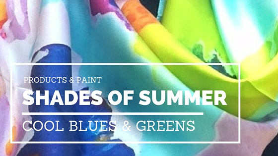 Cool Shades of Summer: Watery Hues Of Blue and Green- Living With Color Designs Blog