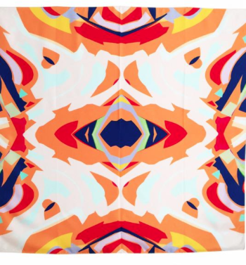 Aztec- Silk Scarf- abstract pattern - modern design : Color Boutique at Living With Color Designs