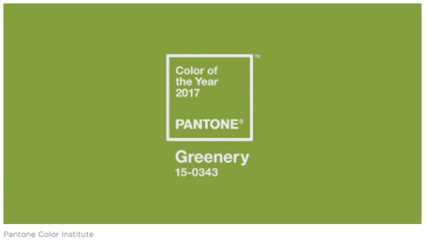 Pantone 2017 color of the year Greenery