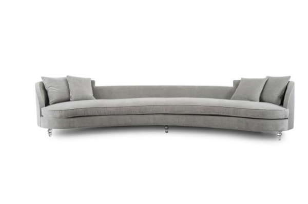 St Tropez Curved Sofa in Charcoal